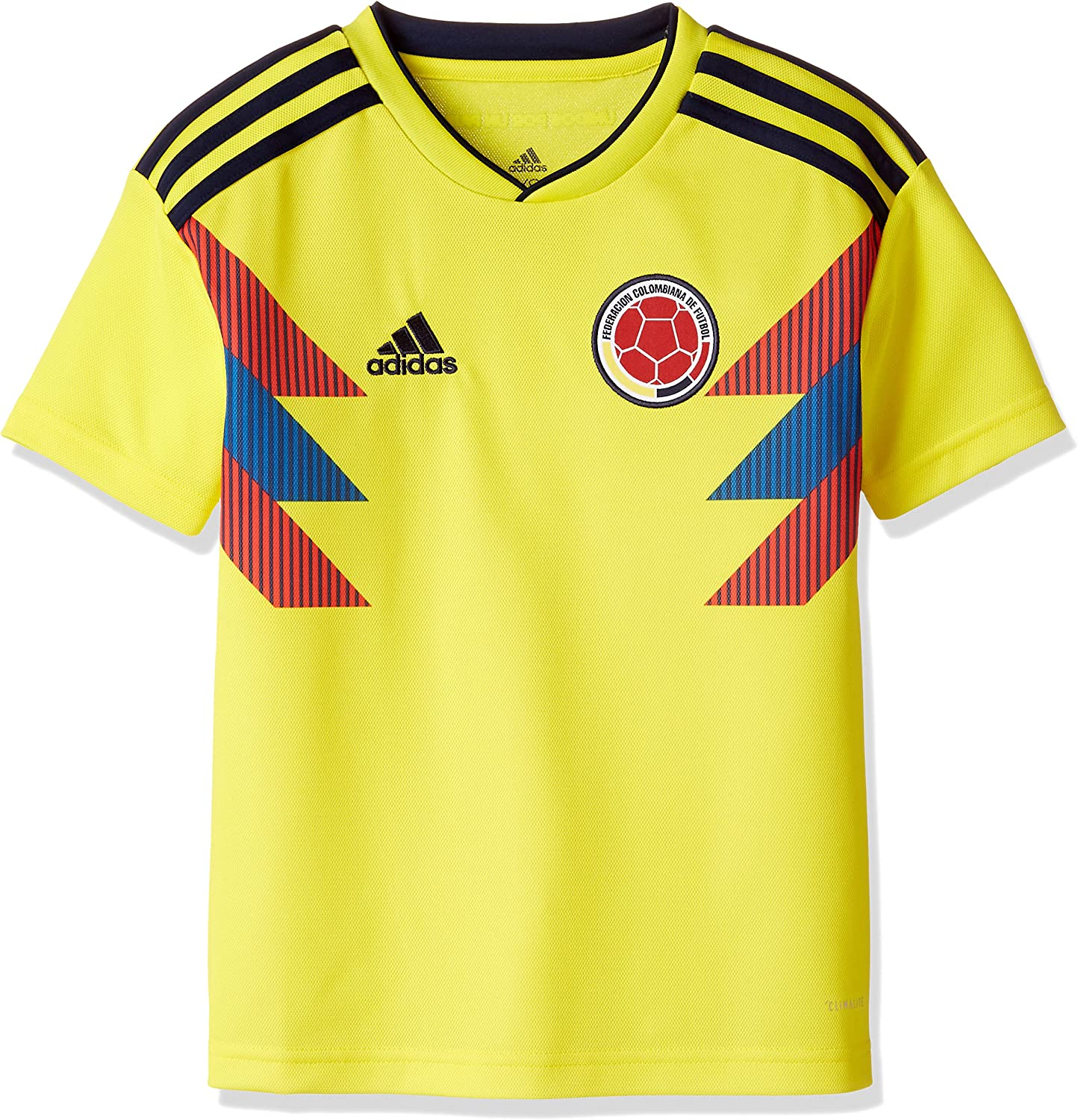 adidas 2018-2019 Colombia Home Football Soccer T-Shirt Jersey (Kids)