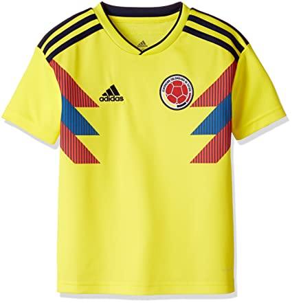 91ff77ee58f Amazon.com   adidas Colombia Home KIDS Jersey 2018 2019   Clothing
