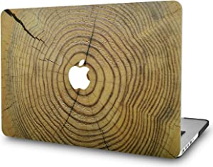 "KECC Laptop Case for Old MacBook Pro 13"" Retina (-2015) Plastic Case Hard Shell Cover A1502 / A1425 (Cracked Wood)"