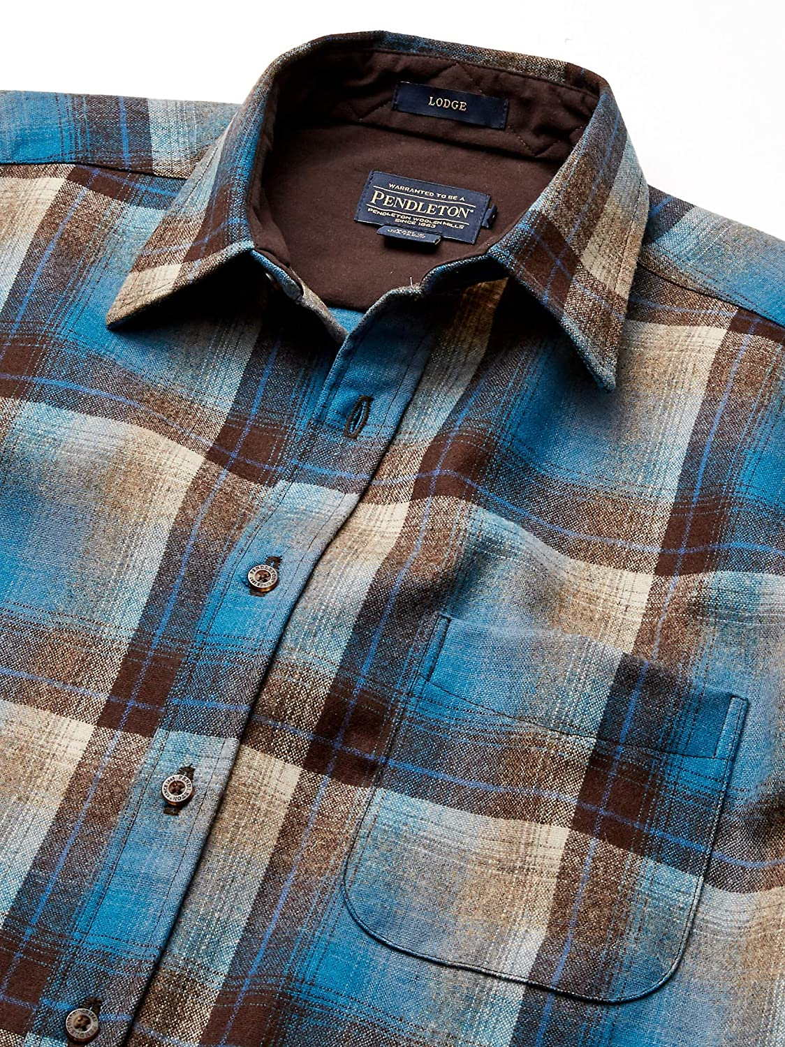 Pendleton Mens Long Sleeve Button Front Classic Lodge Shirt