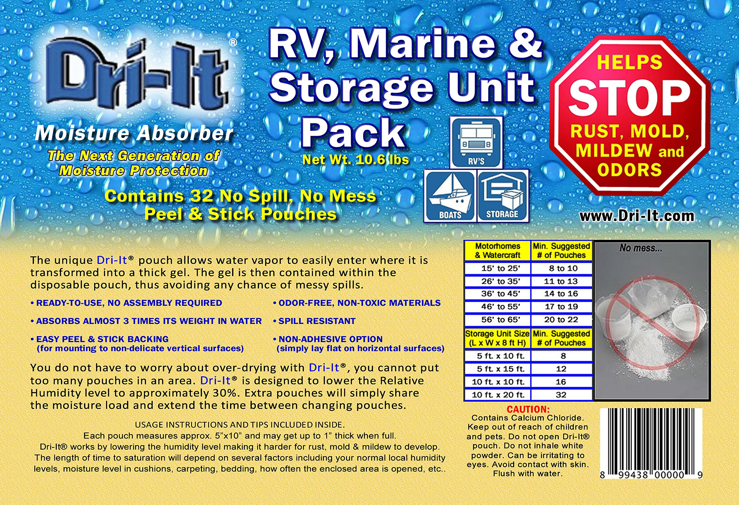 Dri-It RV, Marine and Storage Unit Pack (32 pouches)