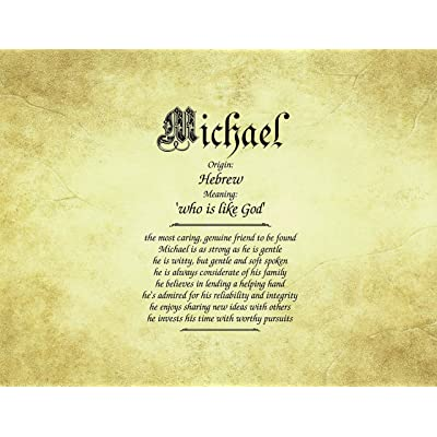 "Old Parchment - Personalized ANY First Name Meaning Keepsake Print 8.5"" x 11"" 