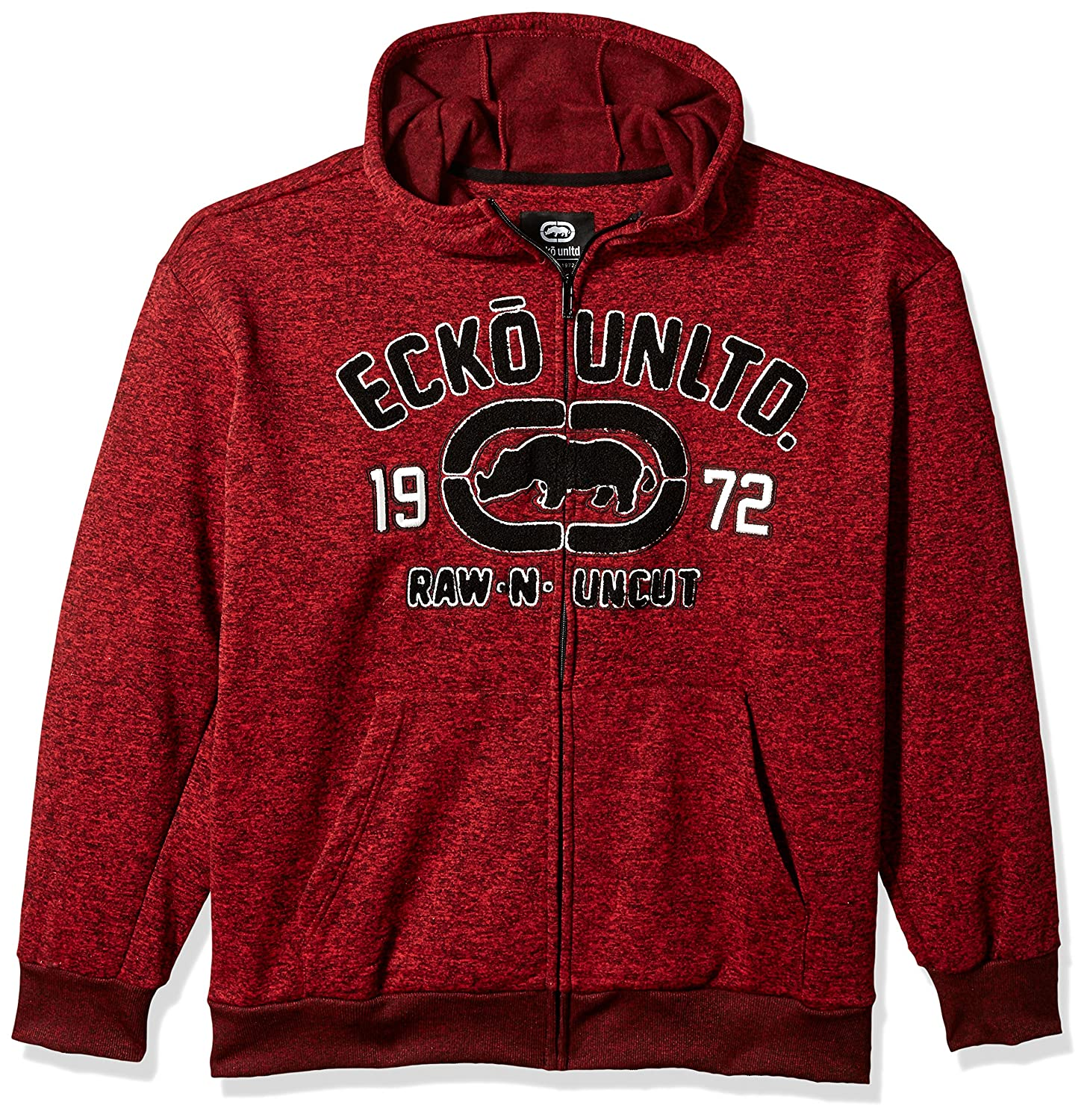 Ecko Unlimited Men's Rhino Raw & Uncut Fleece Hoodie EK37HD50
