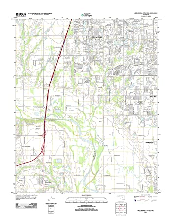 Amazon.com: Topographic Map Poster - OKLAHOMA CITY SE, OK TNM GEOPDF ...