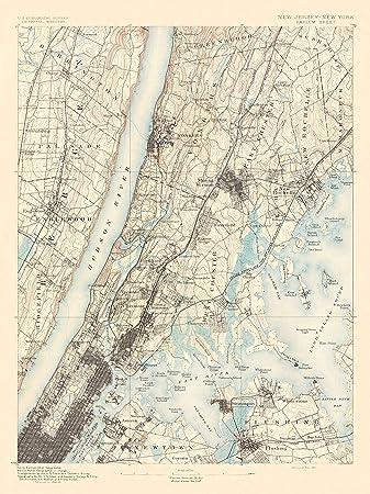 Harlem Nyc Map.Amazon Com Topographical Map Harlem New York New Jersey Sheet