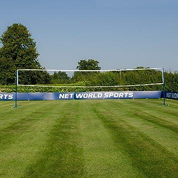 RomiSport Komplete Badminton Pfosten Netz Spielfeldmarkierung