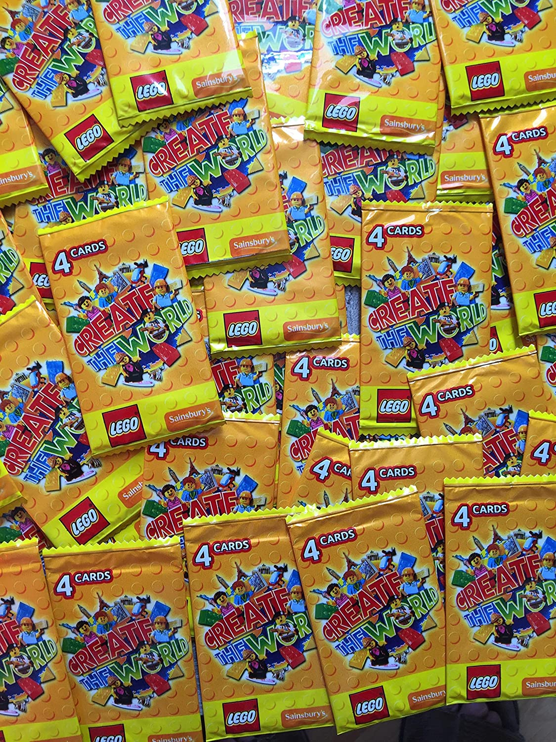 200 Cards 50 Packs of Sainsburys Lego Cards 2018 Incredible Inventions...NEW!