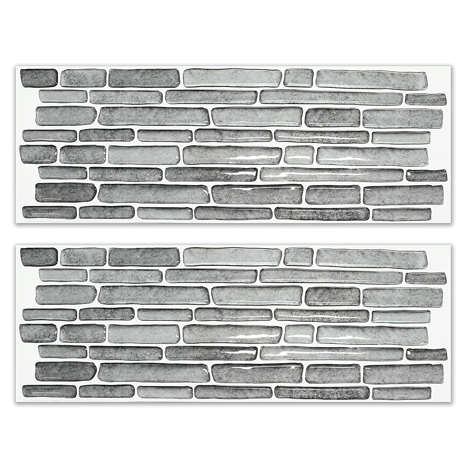 BEAUSTILE Decorative Tile Stickers Peel and Stick Backsplash Fire Retardant Tile Sheet (2, Flower Motif) UNIDESIGN SWT-6
