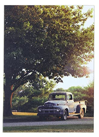 Wonderful Oak Street Wholesale 8.25u0026quot;x6u0026quot; Old Pick Up Truck Light Up Canvas  ...