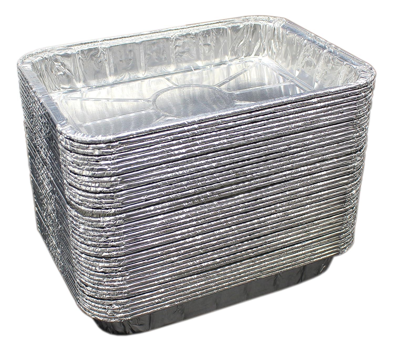 Paquete de 50 papel de aluminio grill sartenes de goteo - Paquete a Granel de Durable cocina bandejas desechables - grasa para barbacoa sartenes - fabricado ...
