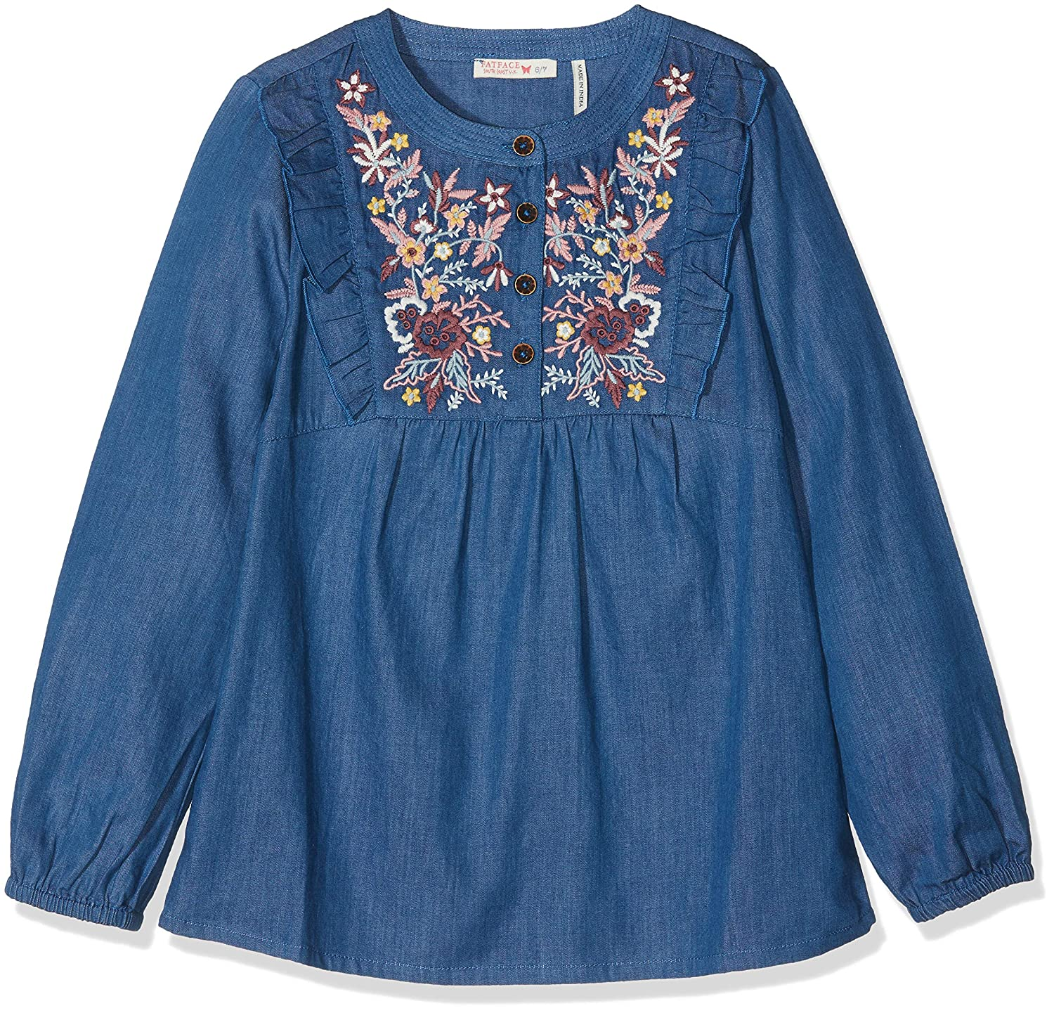 Fat Face Mädchen Bluse Lucy Embroidered 936745