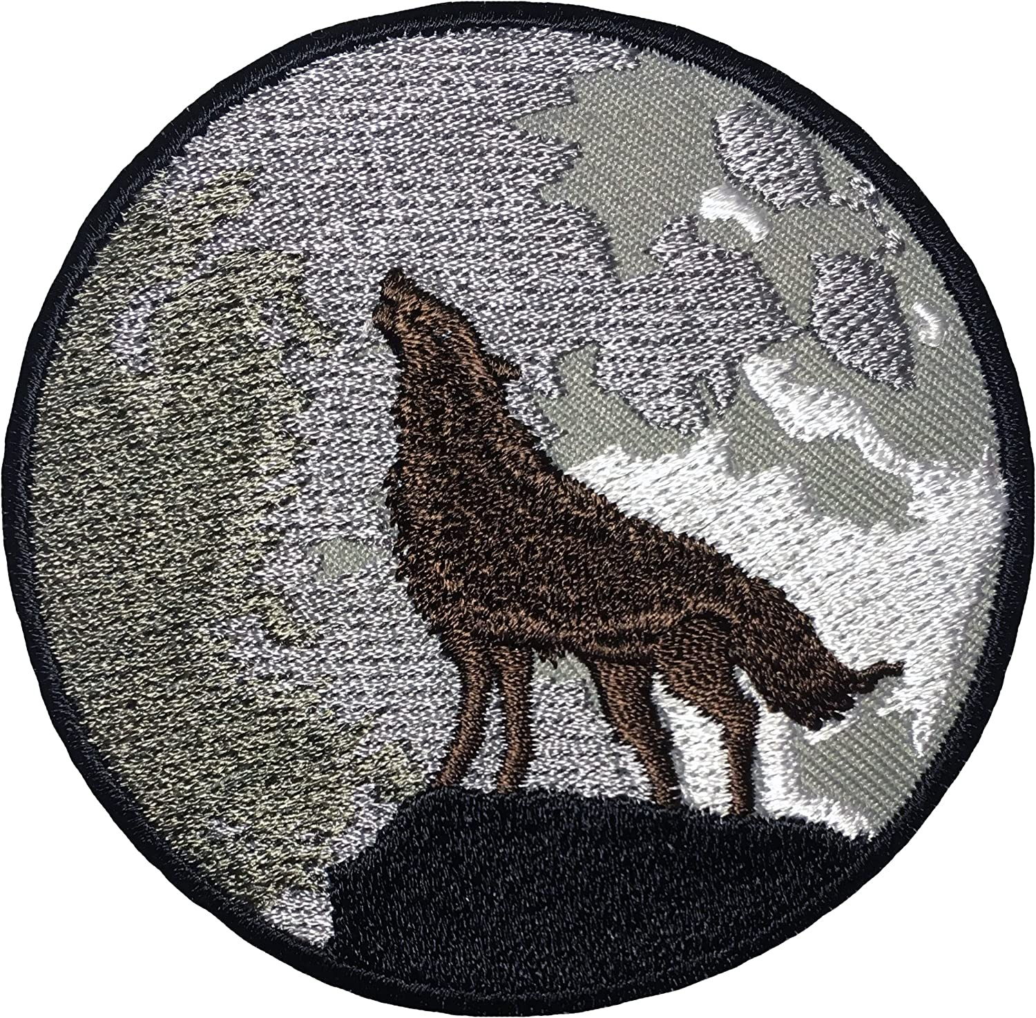 Wolf Coyote Applique Patch Iron on