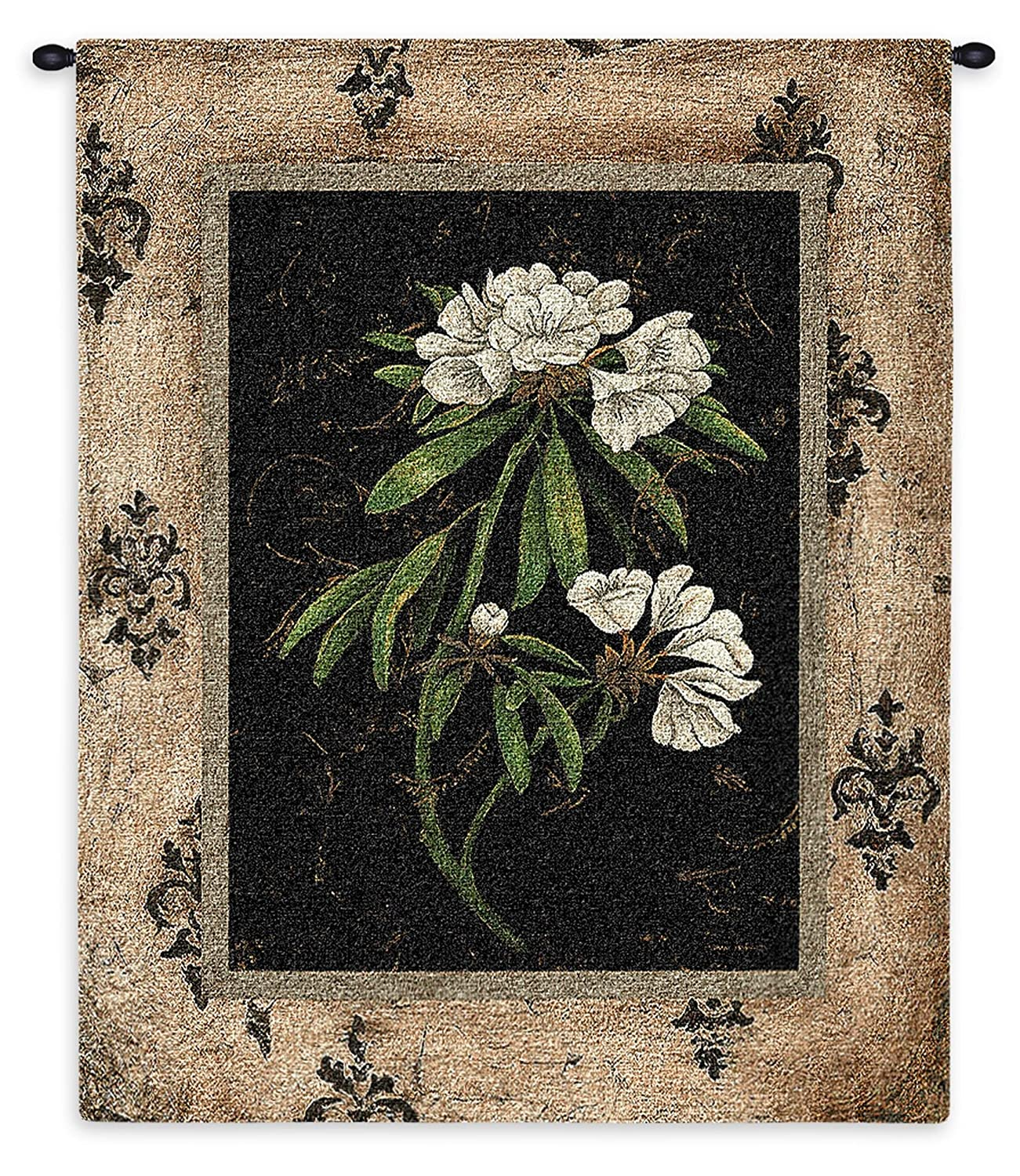 Woven Tapestry Wall Art Hanging 100/% Cotton Botanical Floral Rhododendron Flowers Earthy Frame Artwork Pure Country Weavers Silver Rhododendron by Regina-Andrew USA 33X26