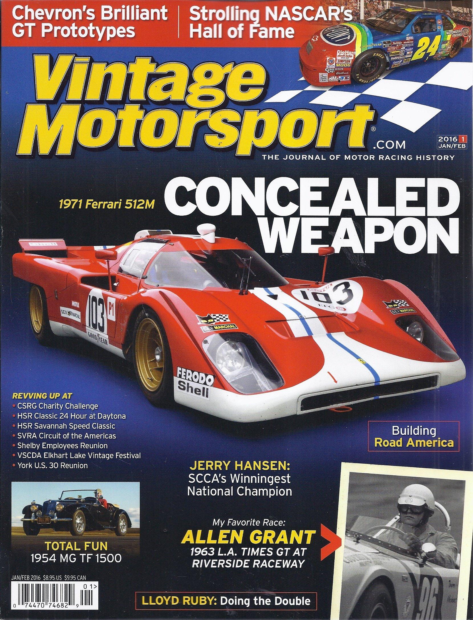 Vintage Motorsport Magazine (January/February 2016 - Cover: 1971 ...