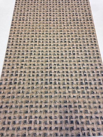 Tappeto cucina 52 x 240 stuoia marrone beige disegno juta digitale ...