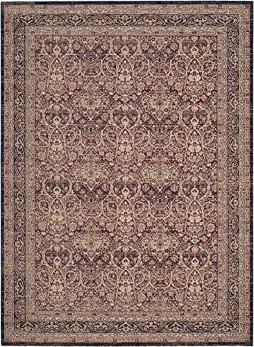 Safavieh Lavar Kerman Collection LVK618D Traditional Red and Navy Cotton Area Rug 8 x 10 8 x 10