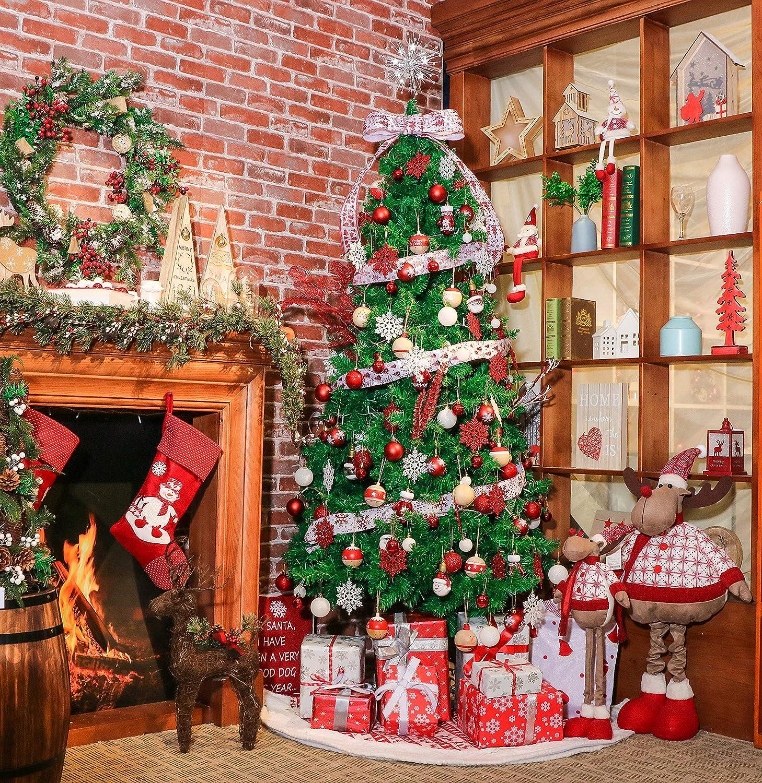 Victors Workshop 100Pcs Christmas Bauble Ornaments 1 2 5 3 13cm