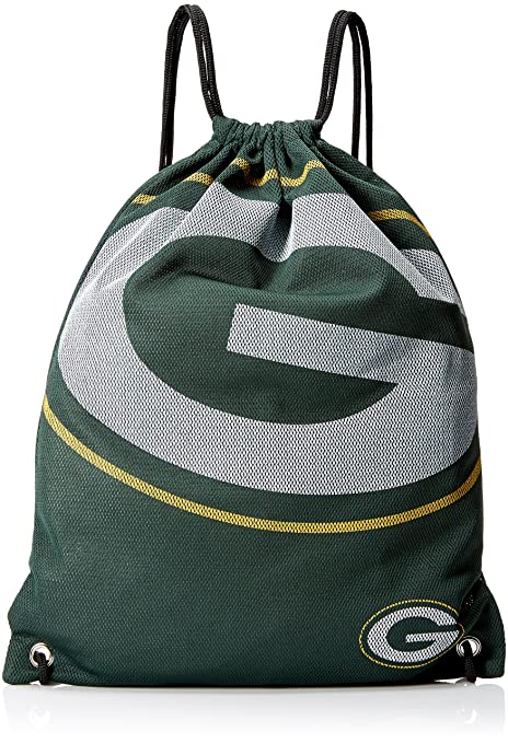 c27f7b100aea Image Unavailable. Image not available for. Color  Forever Collectibles NFL  Green Bay Packers 2015 Jersey Drawstring Backpack ...