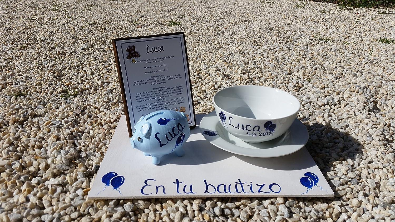 Regalo Bautizo 1 personalizado con el nombre del ni/ño