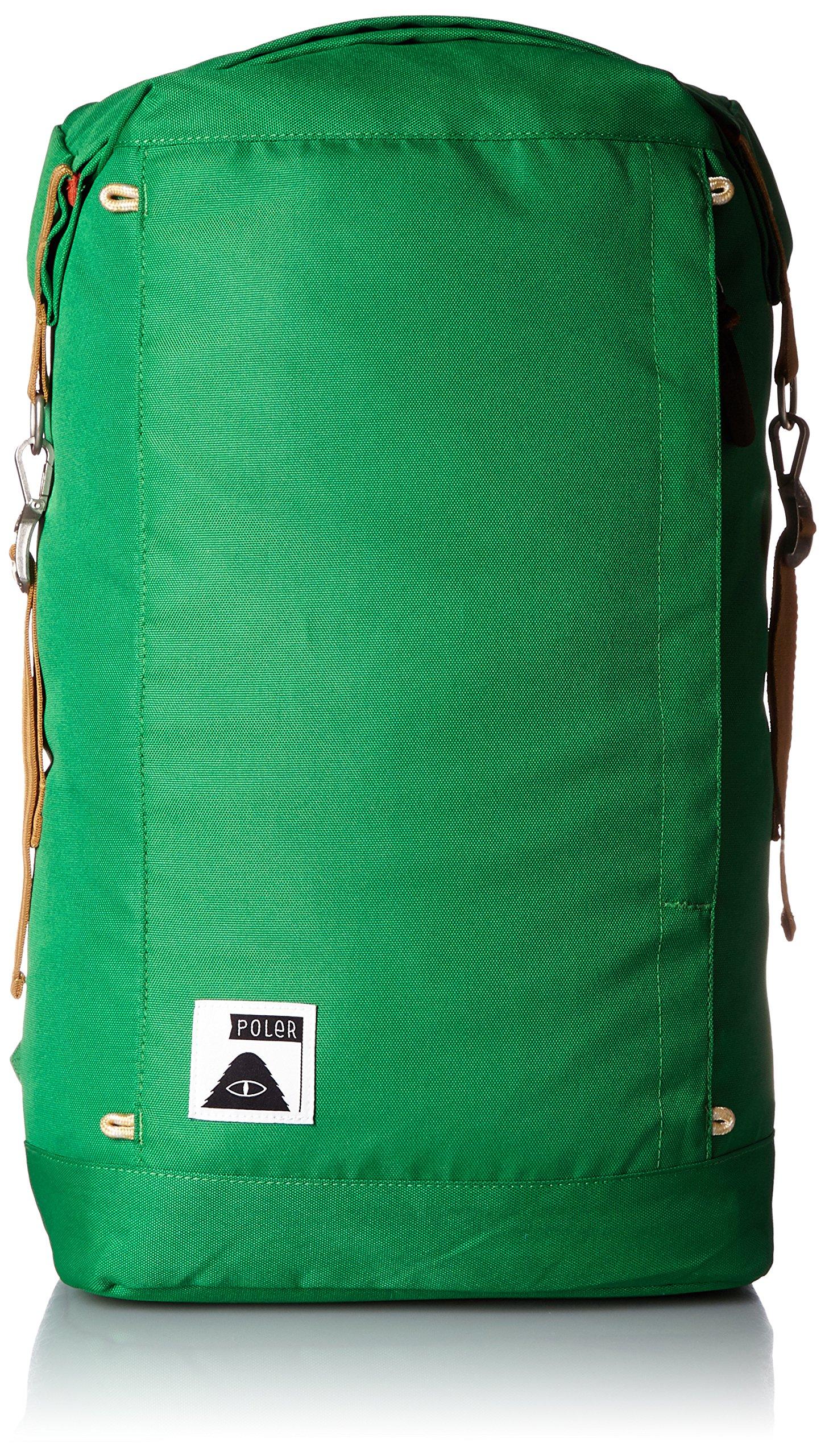 Poler Men's Rolltop Backpack, Bright Green, One Size