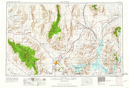 Topographic Map Of Nevada.Amazon Com Yellowmaps Las Vegas Nv Topo Map 1 250000 Scale 1 X 2