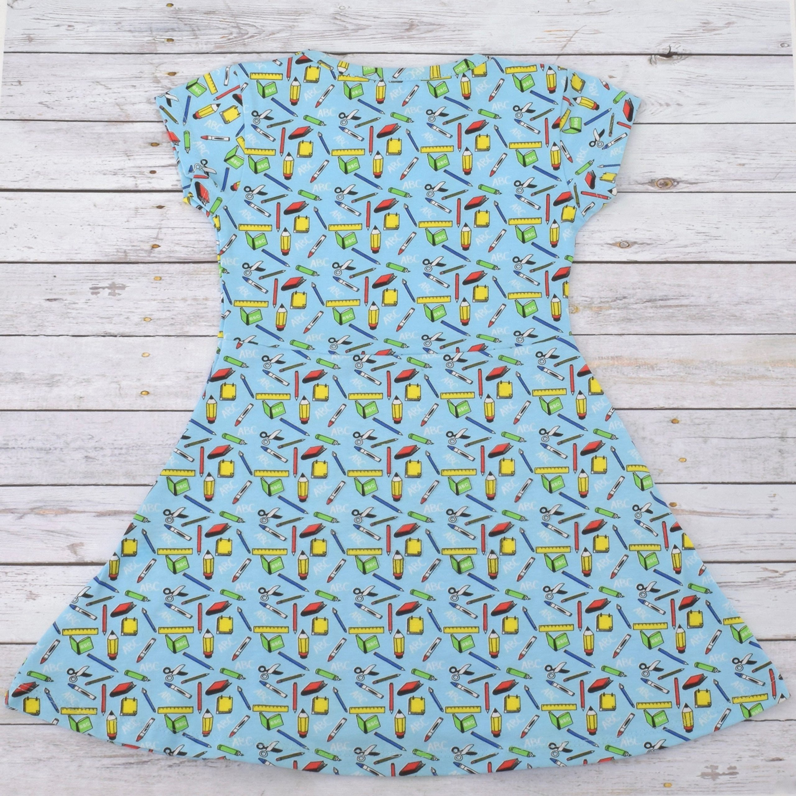 Unique Baby Girls Back to School Dress (6, Blue) by Unique Baby (Image #5)