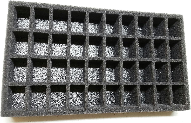 """3/"""" Battle Foam Pre Cut Foam Tray 27 Slot for Warhammer 40k Warmachine /& more"""