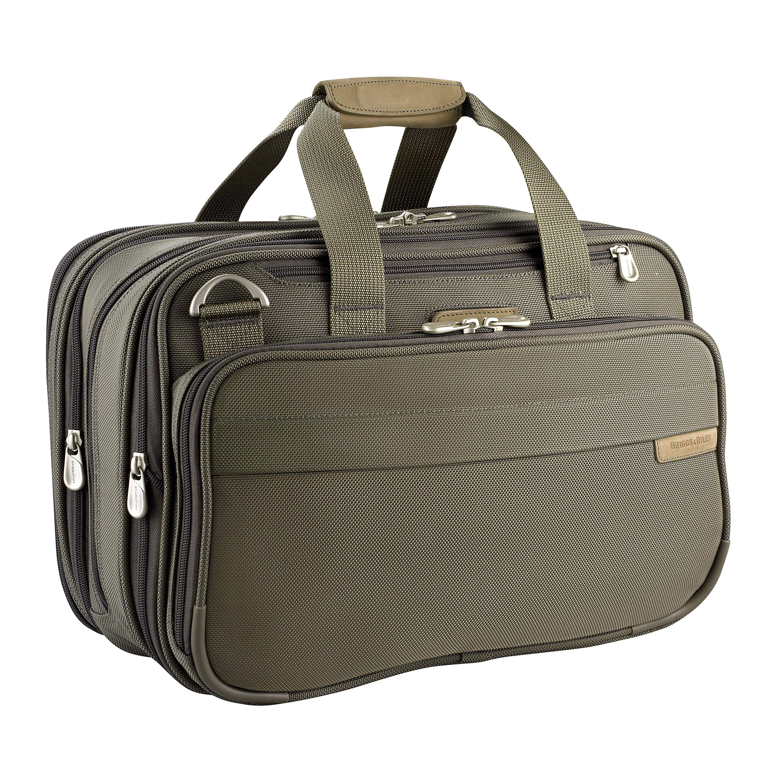 Briggs & Riley Baseline Expandable Cabin Bag, Olive, Medium