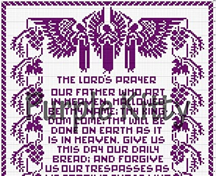 Amazon The Lords Prayer Filet Crochet Pattern 7264 Arts