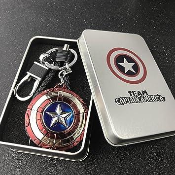 yournelo Cartoon Marvel Capitán América Llavero Bolsa Bolso ...