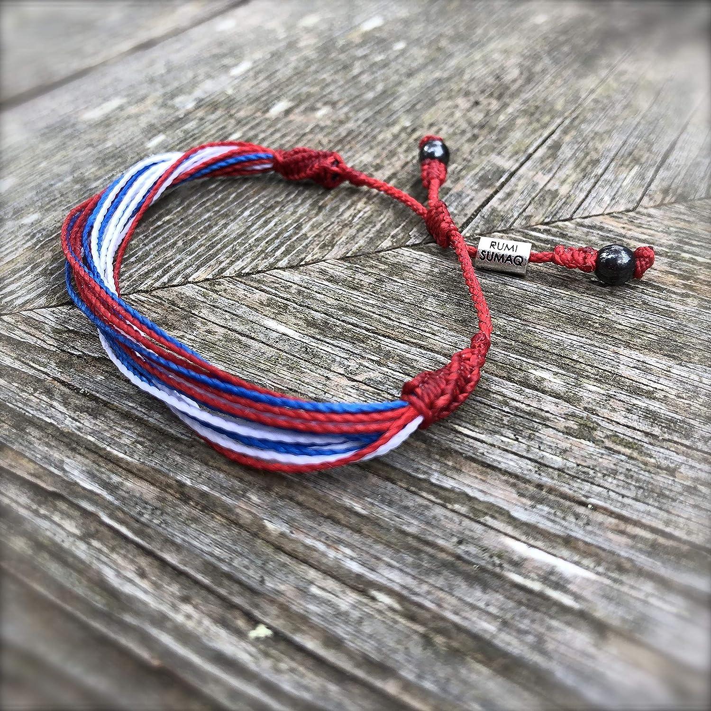 4th July usa bracelet american flag bracelet patriotic jewelry usa flag jewelry patriotic 4th july ornament unisex jewelry Gift for american