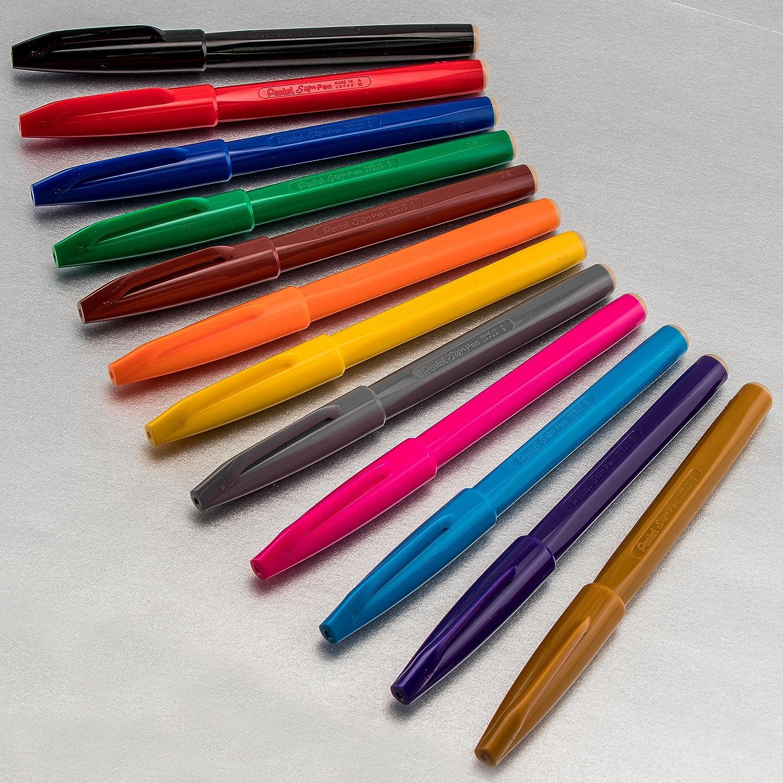 Pentel Assorted Sign Pens S520 Full Range of 12 Pens