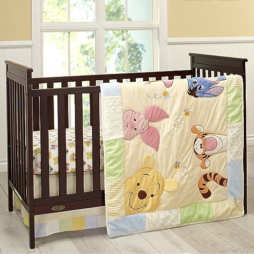 peeking winnie the pooh crib Bedding Set