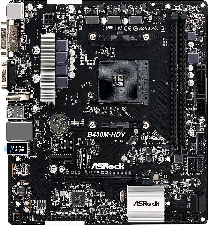 ASRock MicroATX Motherboard (B450M-HDV)