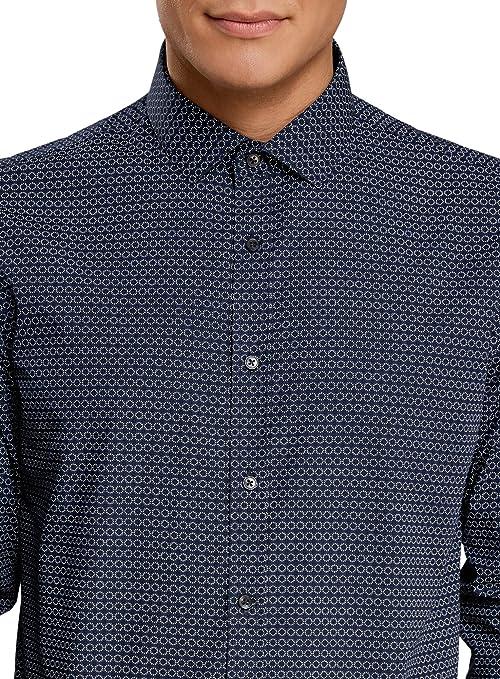 oodji Ultra Hombre Camisa Estampada Entallada: Amazon.es: Ropa y ...