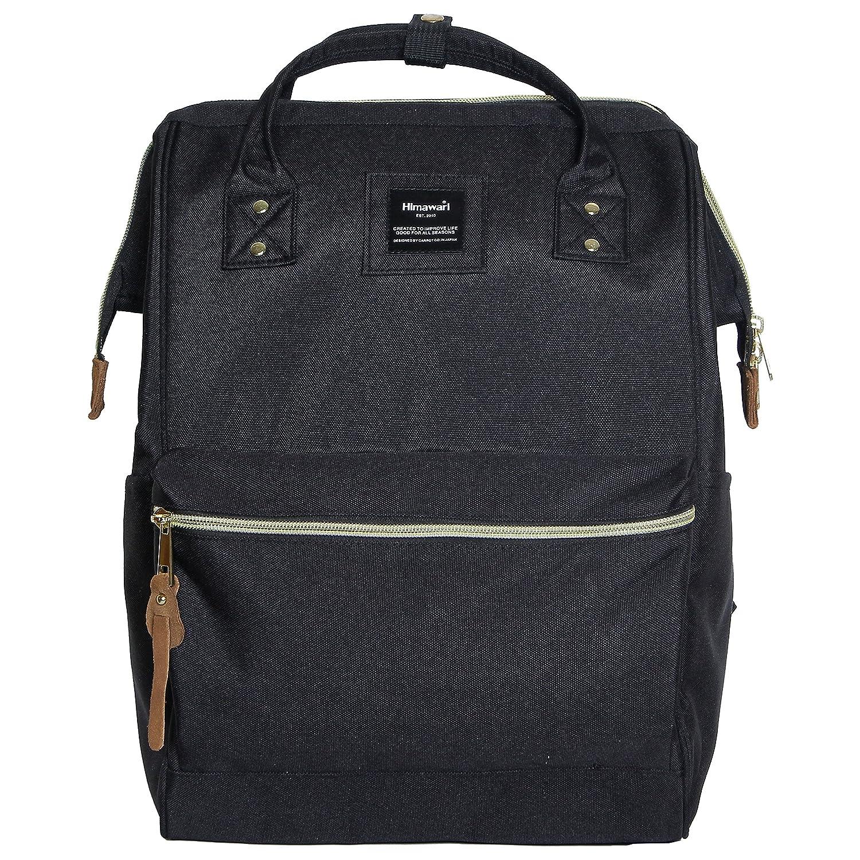 2a3396384066 Amazon.com  Himawari Polyester Backpack Unisex Vintage School Bag Fits  13-inch laptop Black  Himawari Backpack