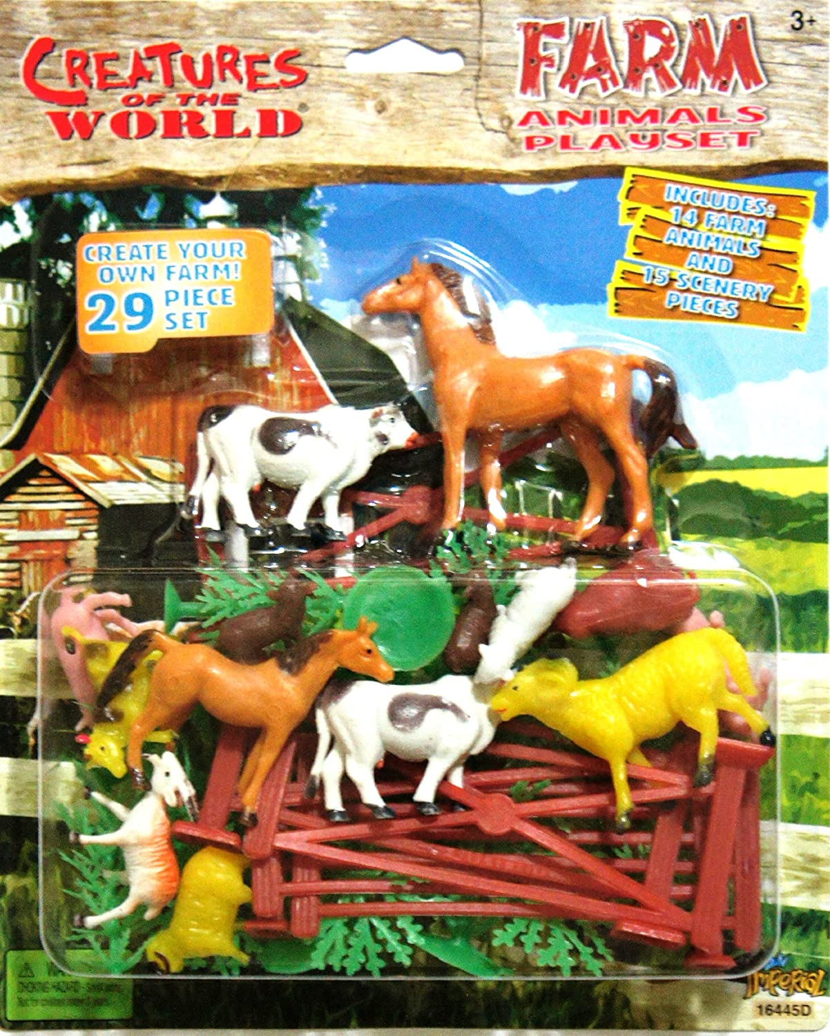 Creatures of the World Farm Animals PlaySet Collection Set - Create your Own FARM! 29 Piece Set