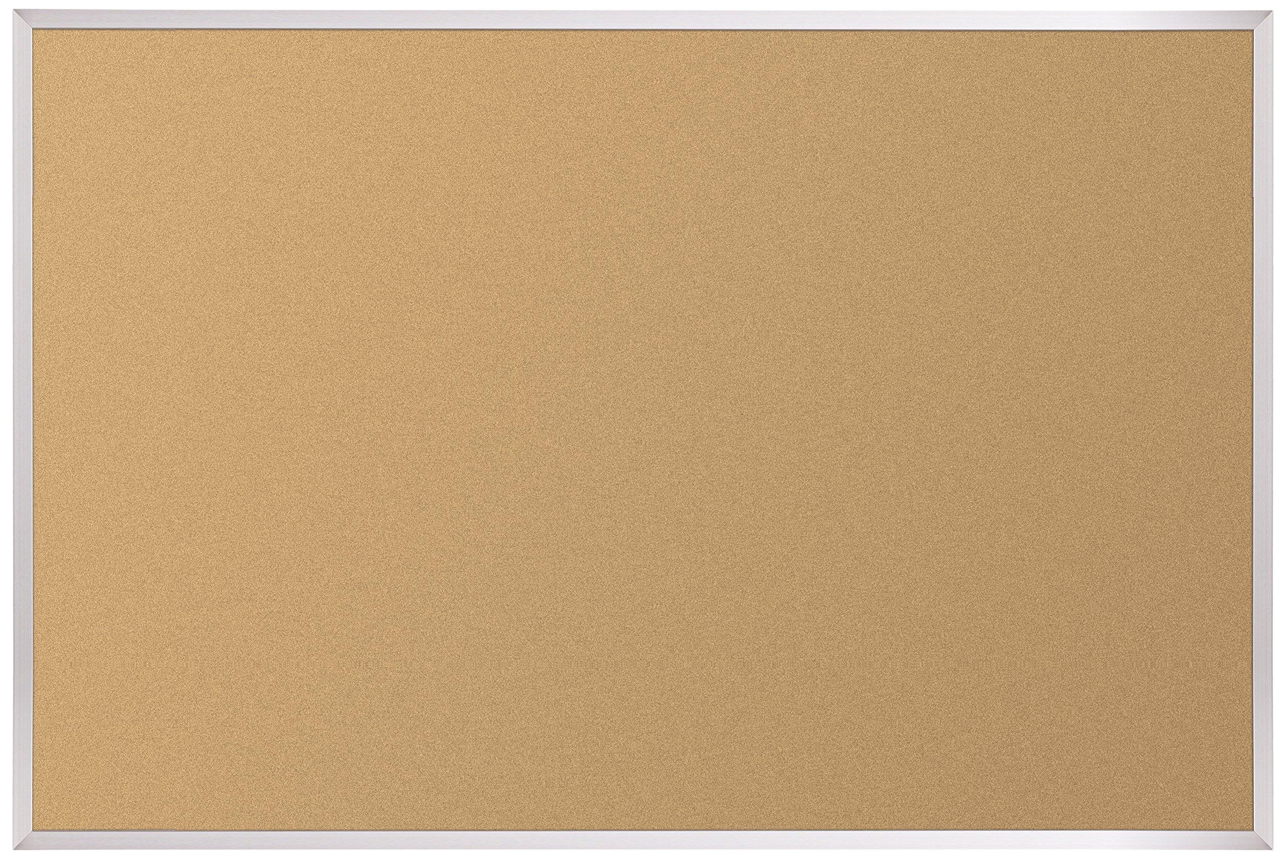 Best-Rite VT Logic Cork Bulletin Board, Aluminum Trim, 4 x 6 Feet (E301AG) by Best-Rite