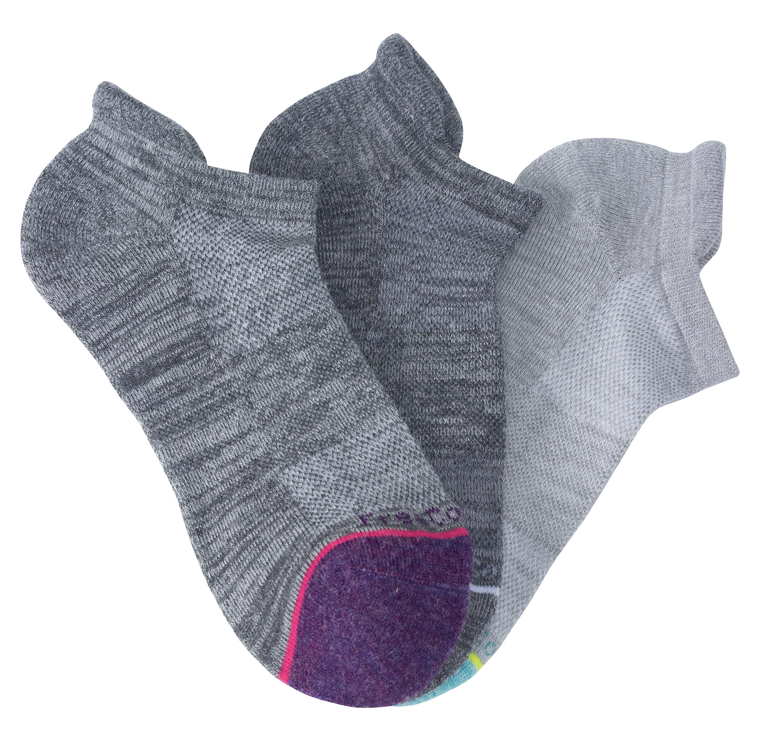 Free Country 3 Pack No Show Socks, Wool Basics, 9-11 (Fits Women's Shoe Sizes 6-10)