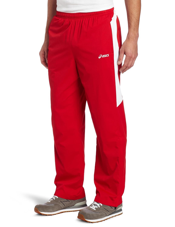 Asics Herren Caldera Warm Up Pants, Herren, rot/weiß, Small