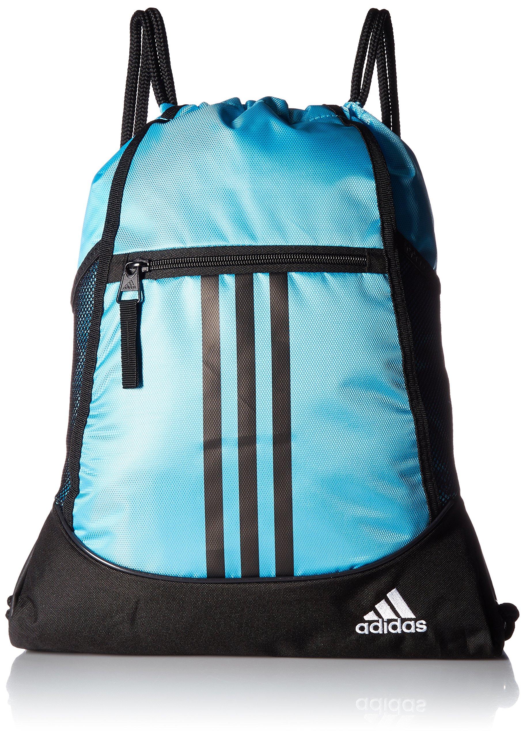adidas Alliance II sackpack, Bright Cyan/Black/White, One Size by adidas (Image #1)