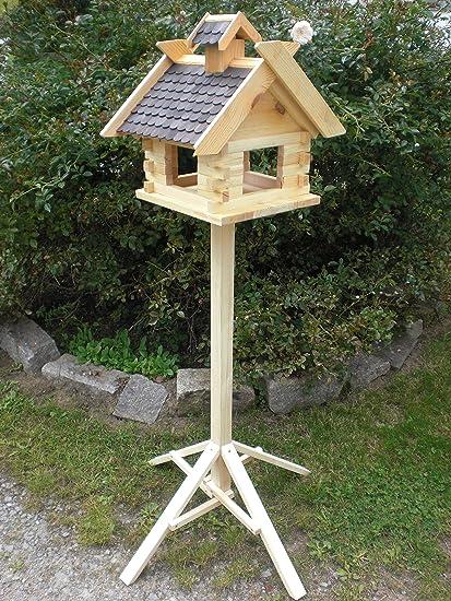 Pajarera con soporte de (V07 + S1) XXXL Negro de pájaro Casas de pajarera