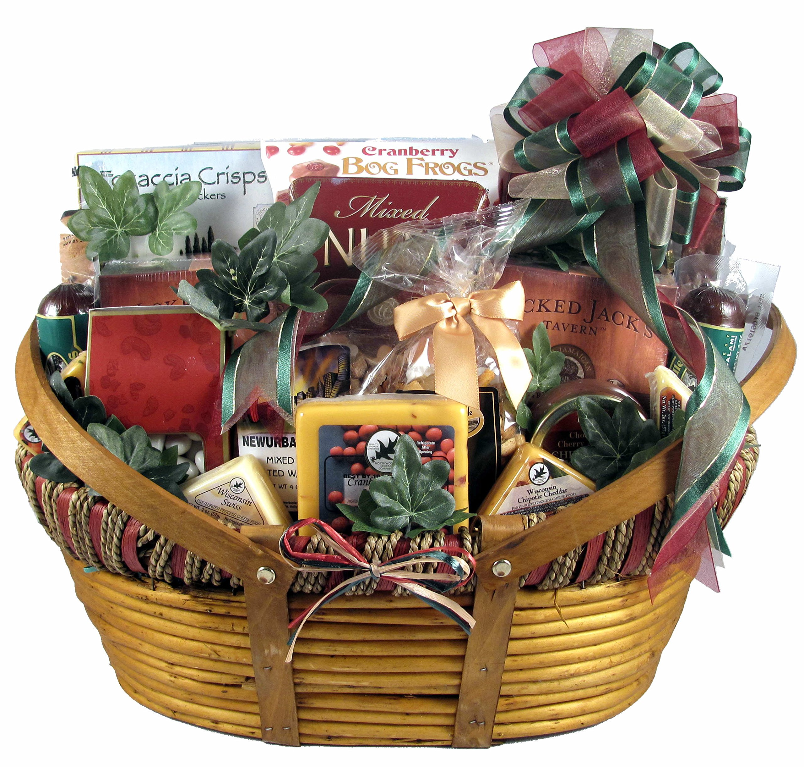 The Midwesterner, Really Big Cheese And Sausage Gift Basket With Specialty Cheeses and Sausages Paired with Crackers and Gourmet Treats (XL),16 Pounds by Gift Basket Village (Image #1)