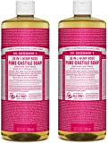 Dr. Bronner's Pure-Castile Liquid Soap Value Pack – Rose 32oz. (2 Pack)