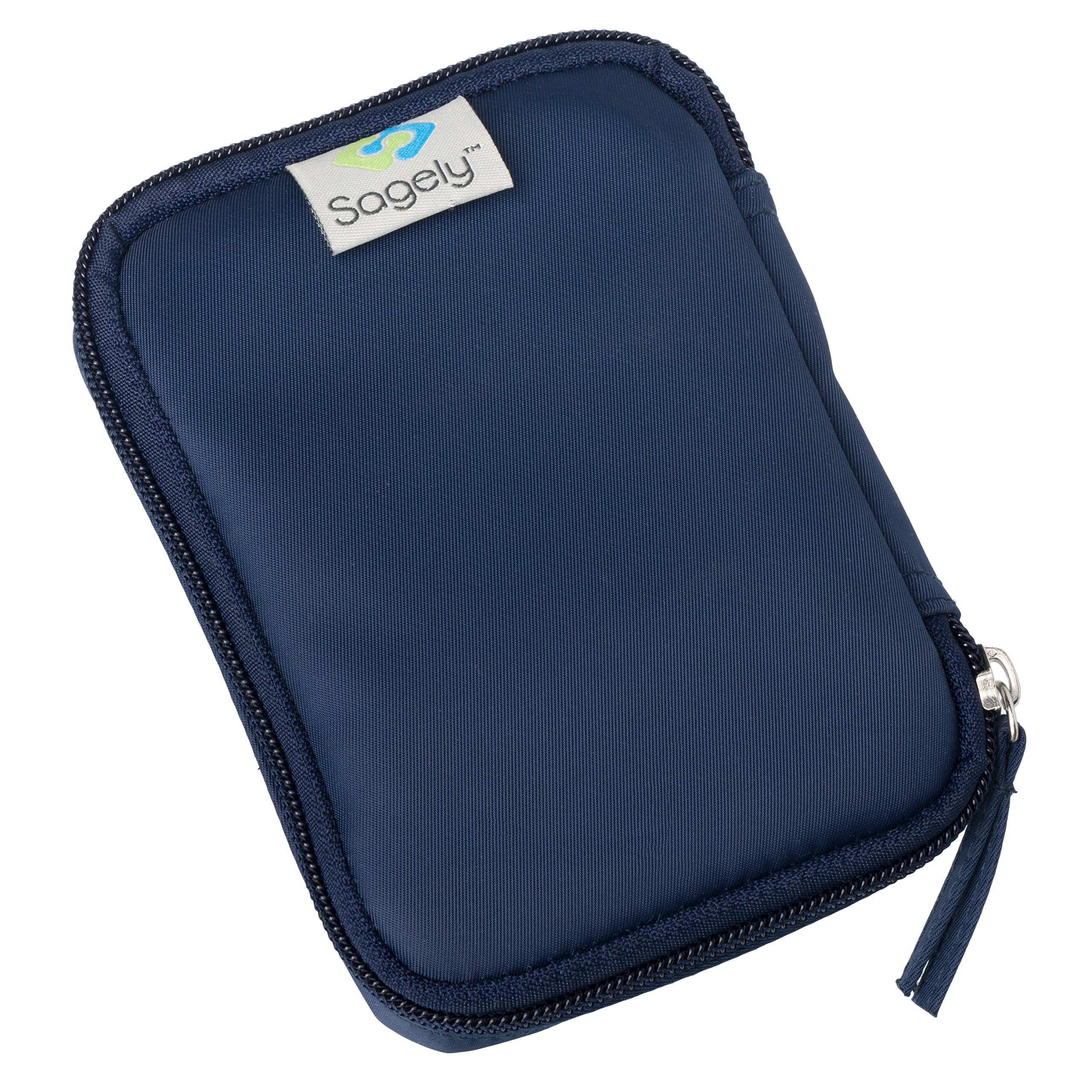 Sagely Weekend Travel Pouch for Smart Weekly Pill Organizer (Navy)