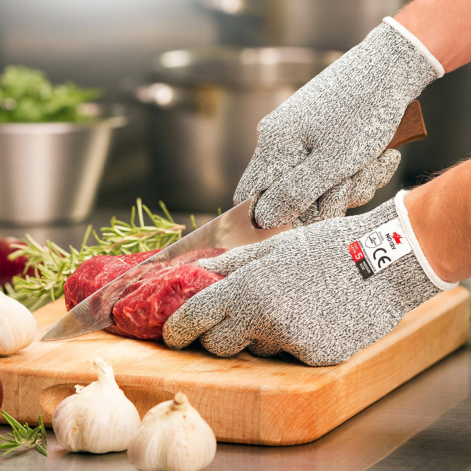amazon com nocry cut resistant gloves high performance level 5 amazon com nocry cut resistant gloves high performance level 5 protection food grade size extra large ebook included kitchen dining