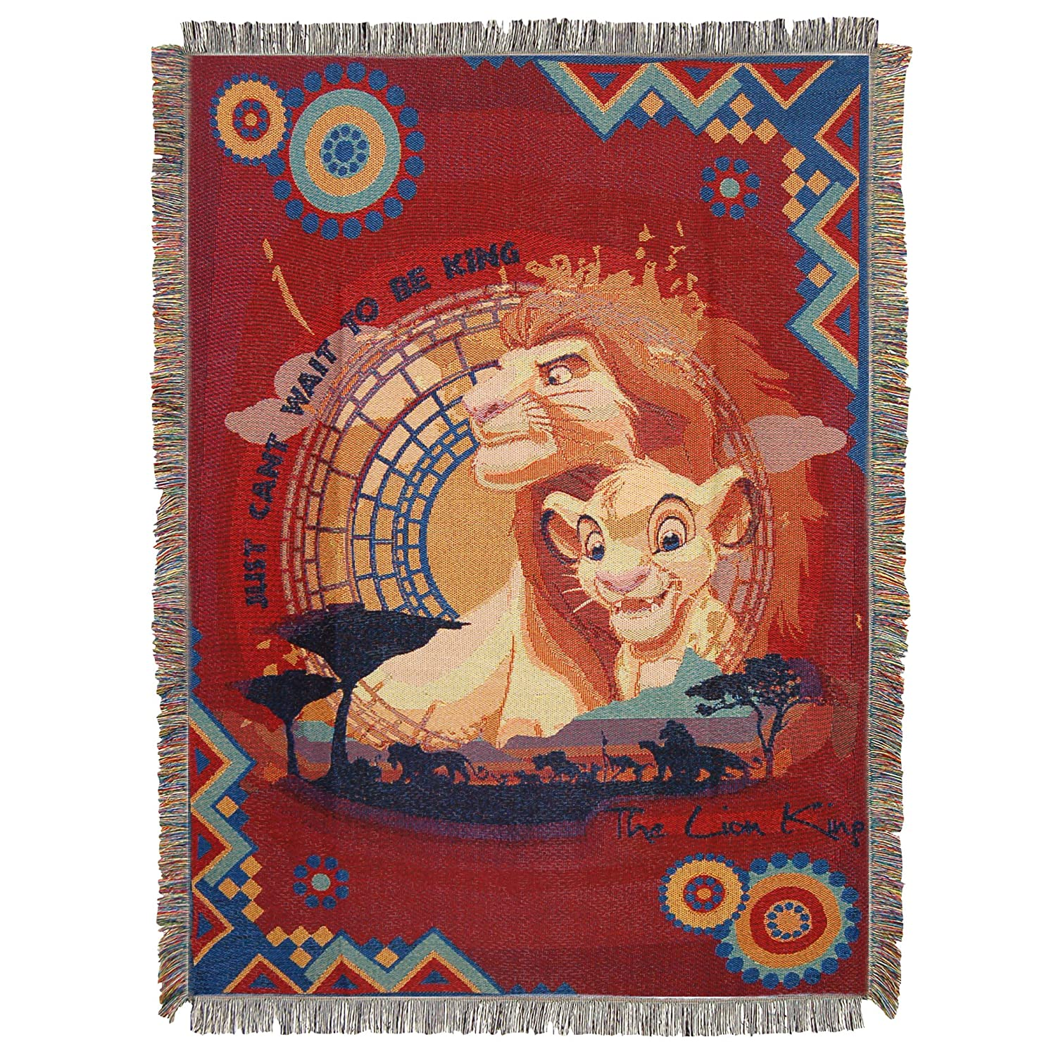 Disney The Lion King Woven Tapestry Throw Blanket, 48 x 60, Multi 48 x 60 The Northwest Company 1DLK/05100/0004/RET