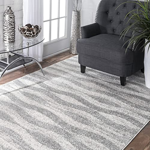 nuLOOM Tristan Contemporary Area Rug, 5 x 8 , Grey