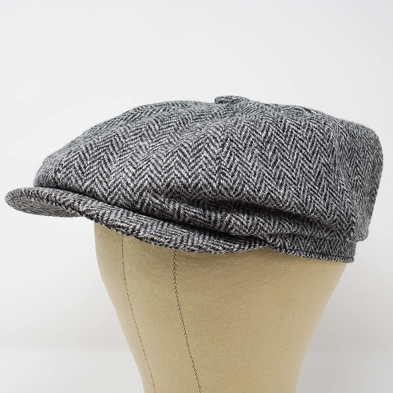 Borges /& Scott The Tyrone Patchwork Irish Tweed Newsboy Cap