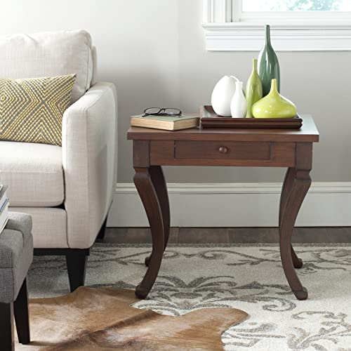 Safavieh American Homes Collection Colman Brown One Drawer Storage Side Table